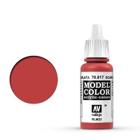 Vallejo Model Colour Scarlet 17 ml Acrylic Paint