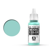 Vallejo 70832 Model Colour #202 Verdigris Glaze 17 ml Acrylic Paint