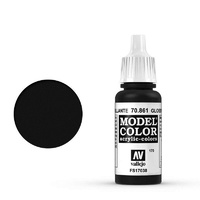 Vallejo 70861 Model Colour #170 Glossy Black 17 ml Acrylic Paint