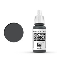 Vallejo 70862 Model Colour #168 Black Grey 17 ml Acrylic Paint