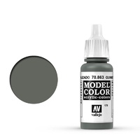 Vallejo 70863 Model Colour #179 Metallic Gunmetal Grey 17 ml Acrylic Paint