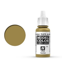 Vallejo 70878 Model Colour #173 Metallic Old Gold 17 ml Acrylic Paint