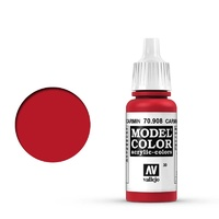 Vallejo Model Colour Carmine Red 17 ml Acrylic Paint