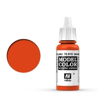 Vallejo Model Colour Orange Red 17 ml Acrylic Paint