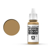 Vallejo 70914 Model Colour #119 Green Ochre 17 ml Acrylic Paint