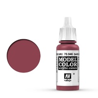 Vallejo 70946 Model Colour #032 Dark Red 17 ml Acrylic Paint