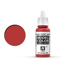 Vallejo Model Colour Dark Vermillion 17 ml Acrylic Paint