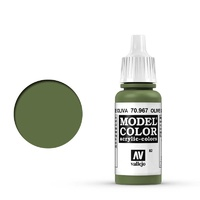 Vallejo Model Colour Olive Green 17 ml Acrylic Paint