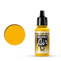Vallejo 71002 Model Air Medium Yellow 17 ml Acrylic Airbrush Paint