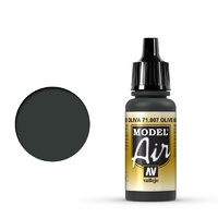 Vallejo Model Air Olive Green 17 ml Acrylic Airbrush Paint