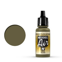 Vallejo 71010 Model Air Interior Green 17 ml Acrylic Airbrush Paint
