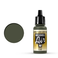 Vallejo 71022 Model Air Light Green RLM82 17 ml Acrylic Airbrush Paint