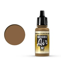 Vallejo Model Air Golden Brown 17 ml Acrylic Airbrush Paint