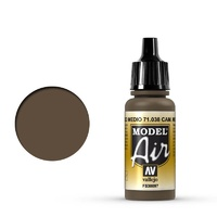 Vallejo 71038 Model Air Cam Medium Brown 17 ml Acrylic Airbrush Paint