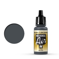 Vallejo Model Air Dark Gray Blue 17 ml Acrylic Airbrush Paint