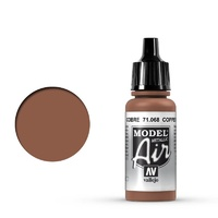 Vallejo Model Air Copper 17 ml Acrylic Airbrush Paint