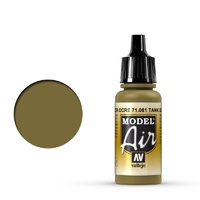 Vallejo Model Air Tank Ochre 1943 17 ml Acrylic Airbrush Paint