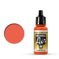 Vallejo Model Air Fluorescent Red 17 ml Acrylic Airbrush Paint