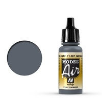 Vallejo Model Air Medium Gunship Gray 17 ml Acrylic Airbrush Paint