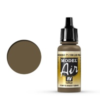 Vallejo Model Air US Field Drab 17 ml Acrylic Airbrush Paint