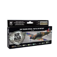"Vallejo Model Air RAF & FAA Special ""Battle of Britain"" WWII 8 Colour Acrylic Paint Set"