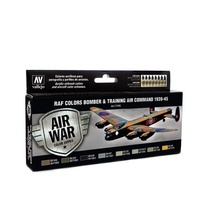 Vallejo Model Air RAF & FAA Bomber Air Command & Training Air 1939-45 8 Acrylic Paint Set