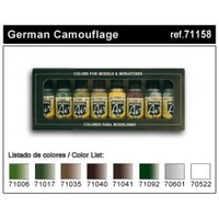 Vallejo Model Air German Camouflage 8 Colour Set AV71158