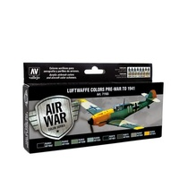 Vallejo 71165 Model Air Luftwaffe Pre-War to 1941 Colour Acrylic Airbrush Paint Set