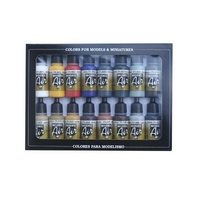 Vallejo Model Air Basic Colors 16 Colour Acrylic Airbrush Paint Set