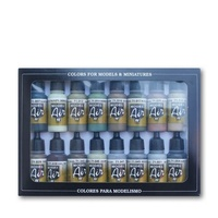Vallejo Model Air Allied Forces WWII 16 Colour Acrylic Airbrush Paint Set