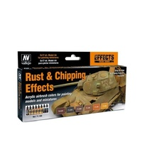 Vallejo Model Air Rust & Chipping Effects Colour Acrylic Airbrush Paint Set