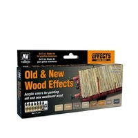 Vallejo Model Air Old & New Wood Effects Colour Acrylic Airbrush Paint Set