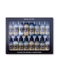 Vallejo Model Air WWII British Aircraft RAF & FAA 16 Colour Acrylic Airbrush Paint Set