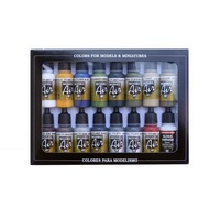 Vallejo Model Air Bulding Set 16 Colour Acrylic Airbrush Paint Set