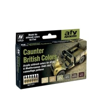 Vallejo Model Air British Caunter 6 Colour Acrylic Paint Set