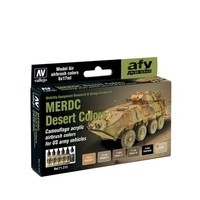 Vallejo Model Air MERDC Desert 6 Colour Acrylic Paint Set