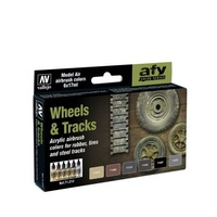 Vallejo Model Air Wheels & Tracks 6 Colour Acrylic Paint Set