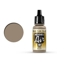 Vallejo Model Air Yellow Brown 17 ml Acrylic Airbrush Paint