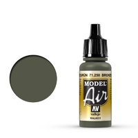 Vallejo Model Air Bronze Green 17 ml Acrylic Airbrush Paint