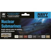 Vallejo Model Air Nuclear Submarines 8 Colour Acrylic Airbrush Paint Set