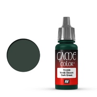 Vallejo Game Colour Dark Green 17 ml Acrylic Paint