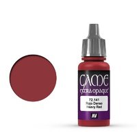 Vallejo Game Colour Extra Opaque Heavy Red 17 ml Acrylic Paint