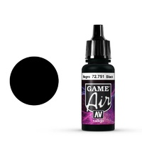 Vallejo Game Air Black 17 ml Acrylic Airbrush Paint