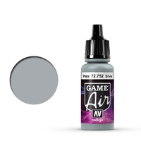 Vallejo Game Air Silver 17 ml Acrylic Airbrush Paint