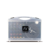 Vallejo 72871 Basic Game Air Colours & Airbrush (28 Colour Plastic Case)