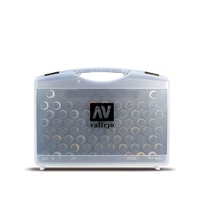 Vallejo Game Air Plastic Case 51 colors, 8 primers, 5 auxiliary, airbrush cleaner -