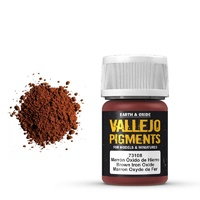 Vallejo 73108 Pigments Brown Iron Oxide 30 ml