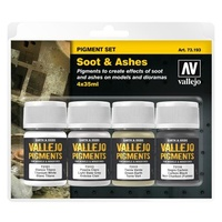 Vallejo 73193 Pigments Set Soot & Ashes 4 x 35ml