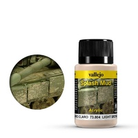 Vallejo Weathering Effects Light Brown Splash Mud 40 ml