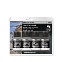 Vallejo Metal Colour Jet Exhaust 4 Colour Acrylic Paint Set